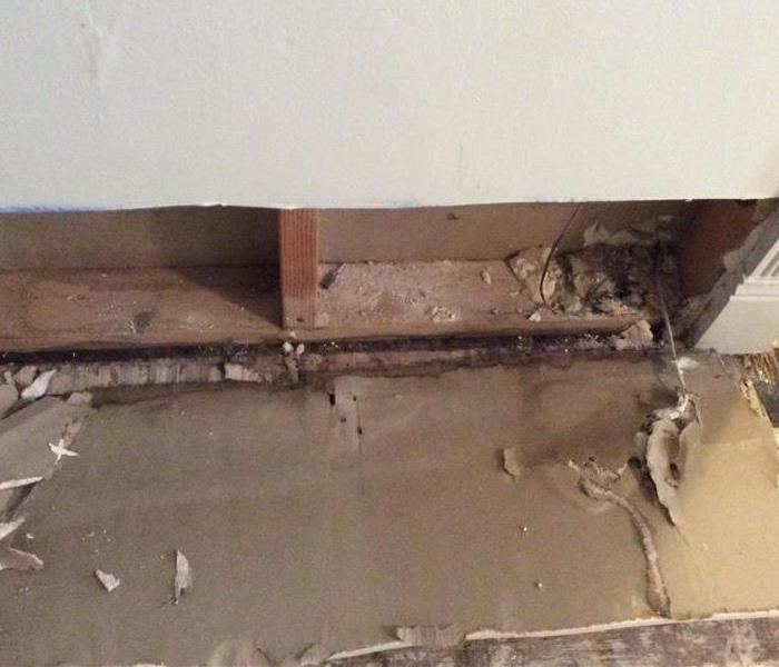 Replaced Wet Drywall  Before