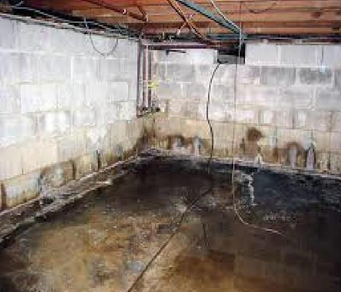 Basement Flood Before