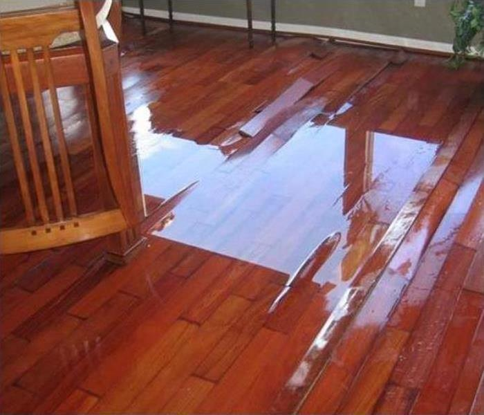 Hardwood Floor Water Damage Before