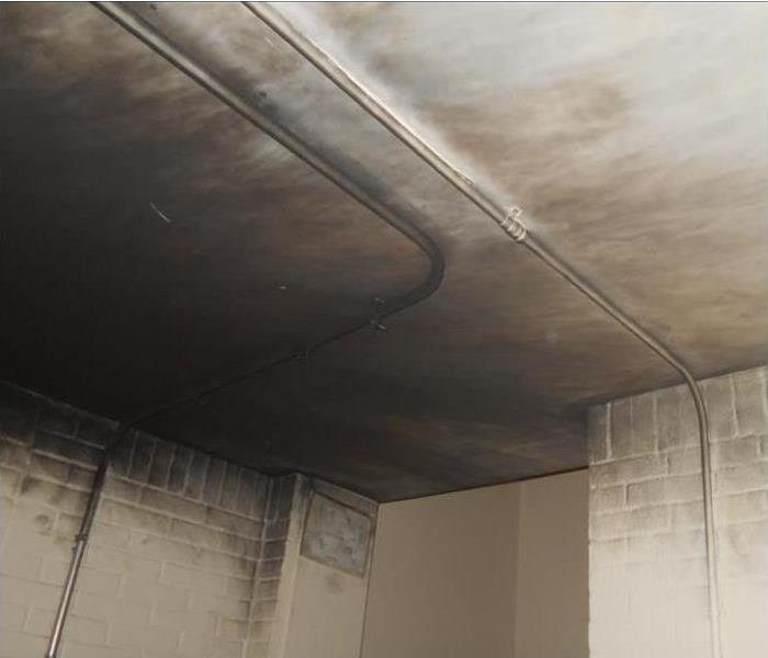 Smoke and Soot Damage in a Basement